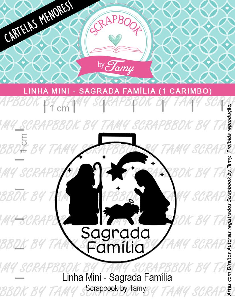 LINHA MINI - Sagrada Família (Scrapbook by Tamy)