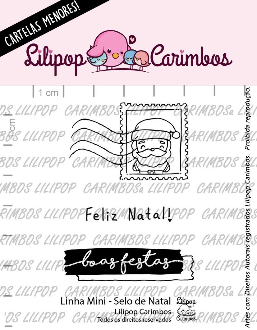 LINHA MINI - Selo de Natal - Lilipop Carimbos (Coleção Natal 2020)