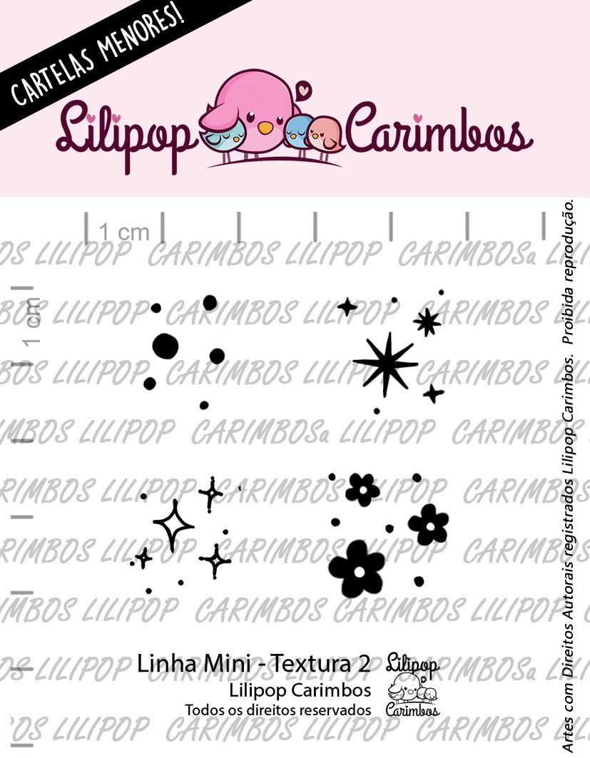"Cartela de Carimbos Mini - ""Textura 2"" - Lilipop Carimbos  - Lilipop carimbos"