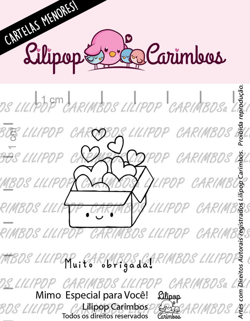 """Cartela de Carimbos Mini - """"Um Mimo Especial para Você"""" - Lilipop Carimbos  - Lilipop carimbos"""