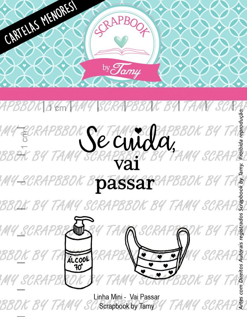 """Cartela de Carimbos Mini - """"Vai Passar"""" - Scrapbook by Tamy  - Lilipop carimbos"""
