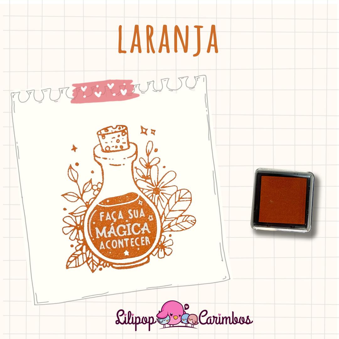Mini Carimbeira - Cor Laranja - Tinta pigmentada  - Lilipop carimbos