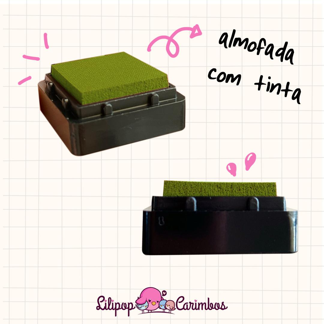 Mini Carimbeira - Cor Oliva - Tinta pigmentada