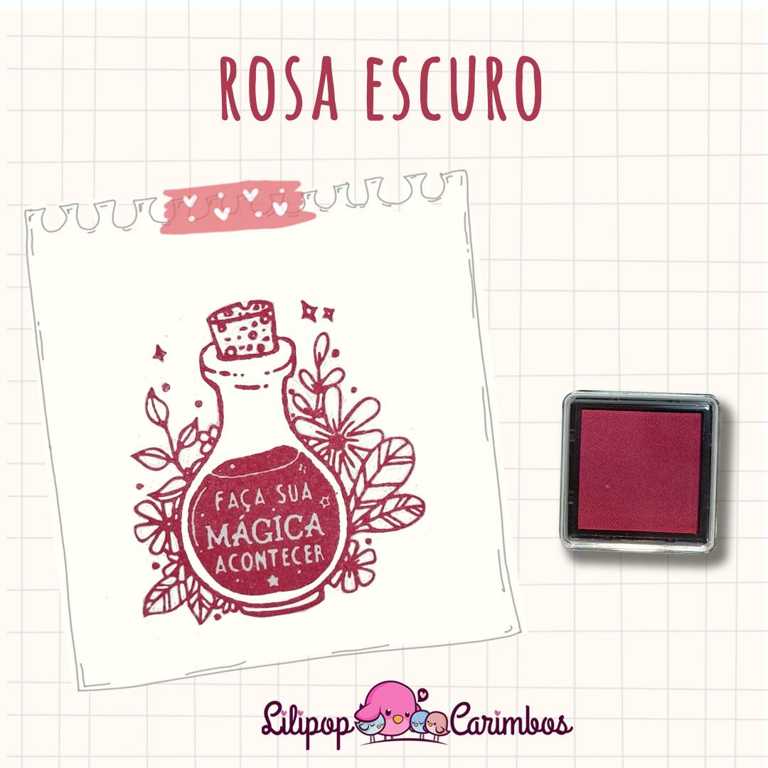 Mini Carimbeira - Cor Rosa Escuro - Tinta pigmentada  - Lilipop carimbos
