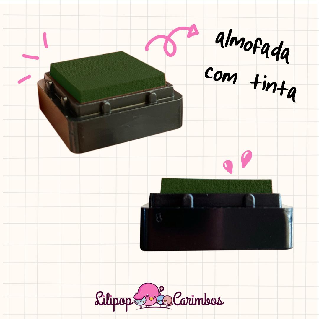 Mini Carimbeira - Cor Verde Escuro - Tinta pigmentada