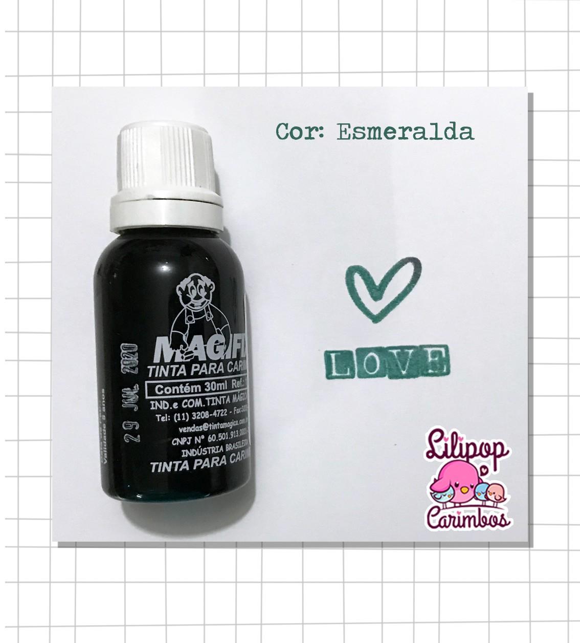 Tinta para carimbo a base de água - Esmeralda  - Lilipop carimbos