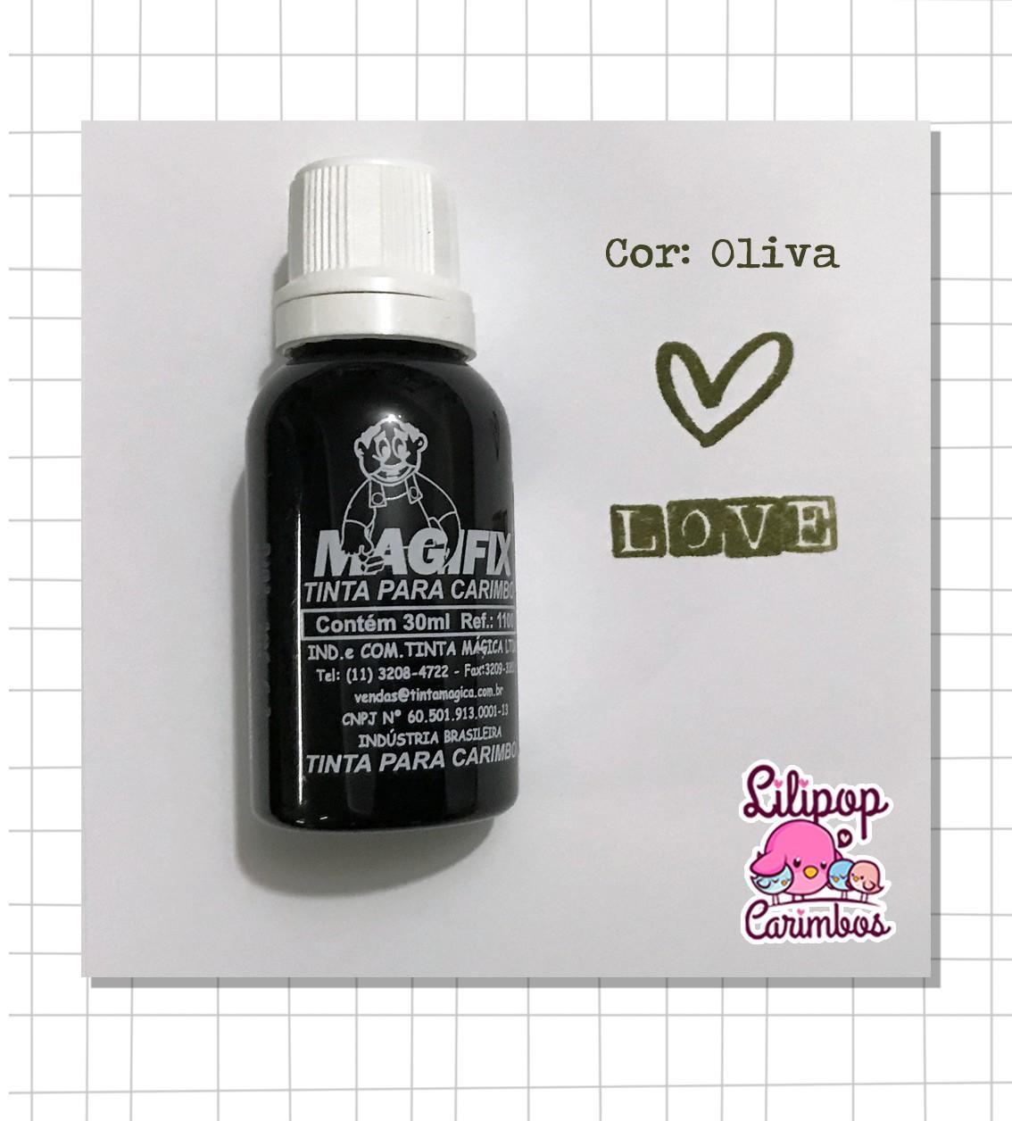 Tinta para carimbo a base de água - Oliva