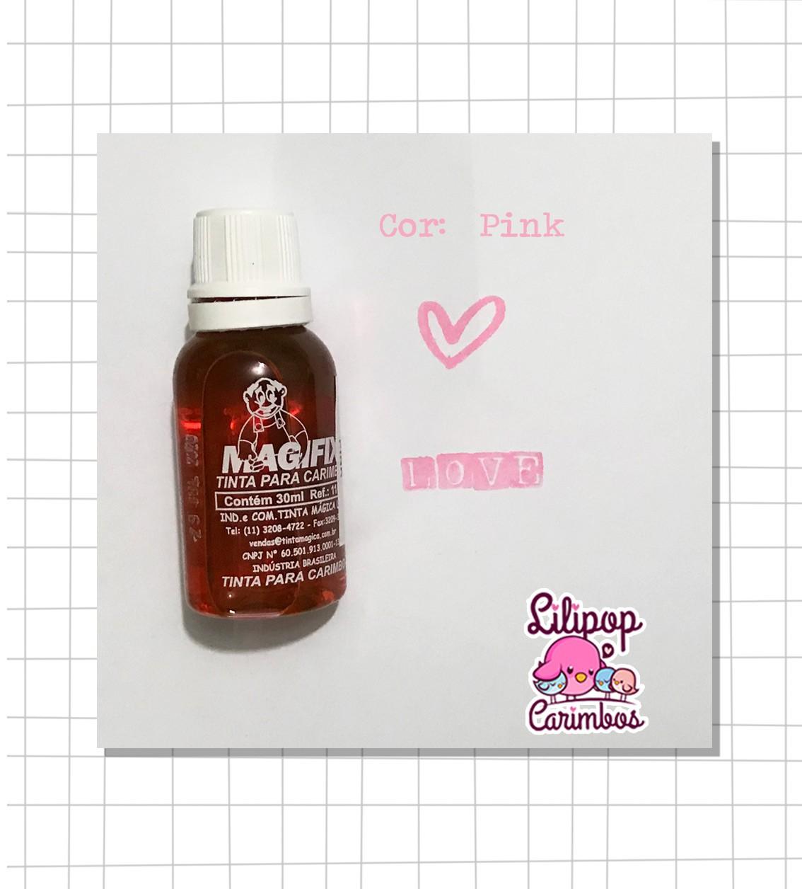 Tinta para carimbo a base de água - Pink