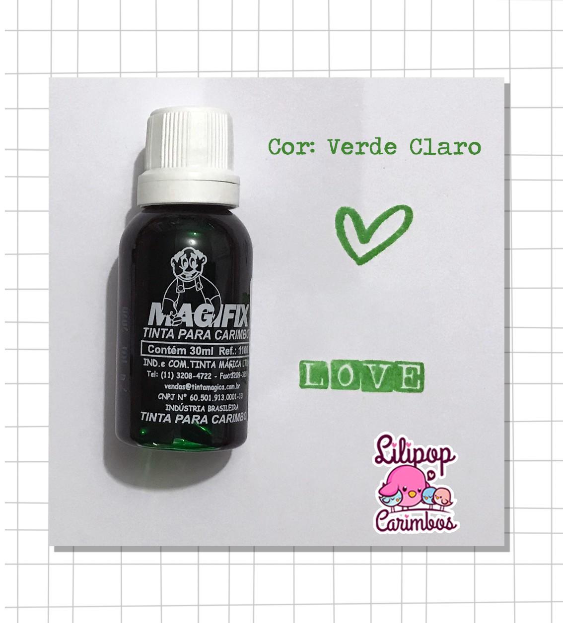 Tinta para carimbo a base de água - Verde Claro  - Lilipop carimbos