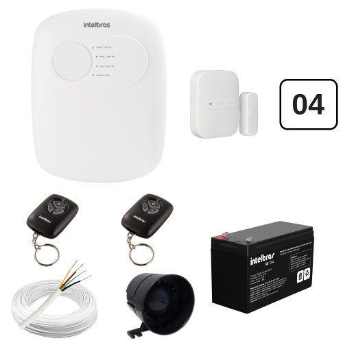 Kit Alarme Intelbras Anm 2003 e 04 Sensores Sem Fio