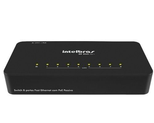 Switch 8 Portas Fast Ethernet Sf800 Q+ Ultra Intelbras