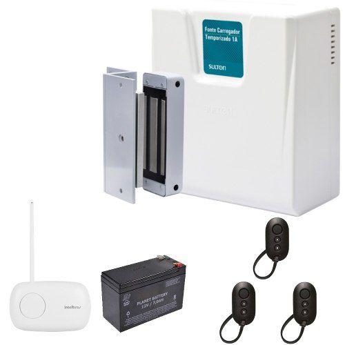 Kit Fechadura Trava Magnética Eletroimã Completo