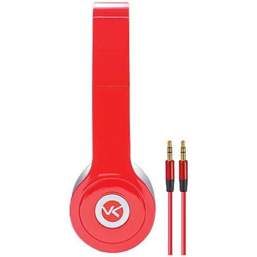 Fone De Ouvido V-bass Modelo V1 Vermelho Top