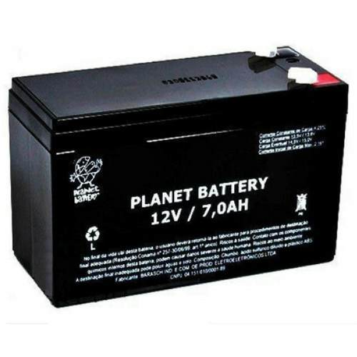 Bateria Selada 12v 7a Recarregavel Planet Battery