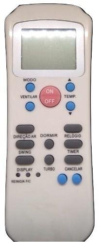 Controle Remoto Ar Condicionado Carrier Springer R14a/ce