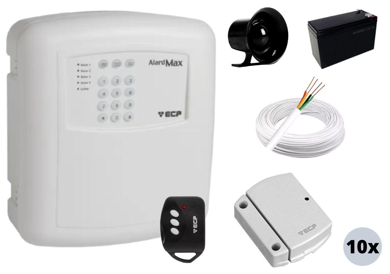 Alarme Comercial Ecp 10 Sensores E Discadora