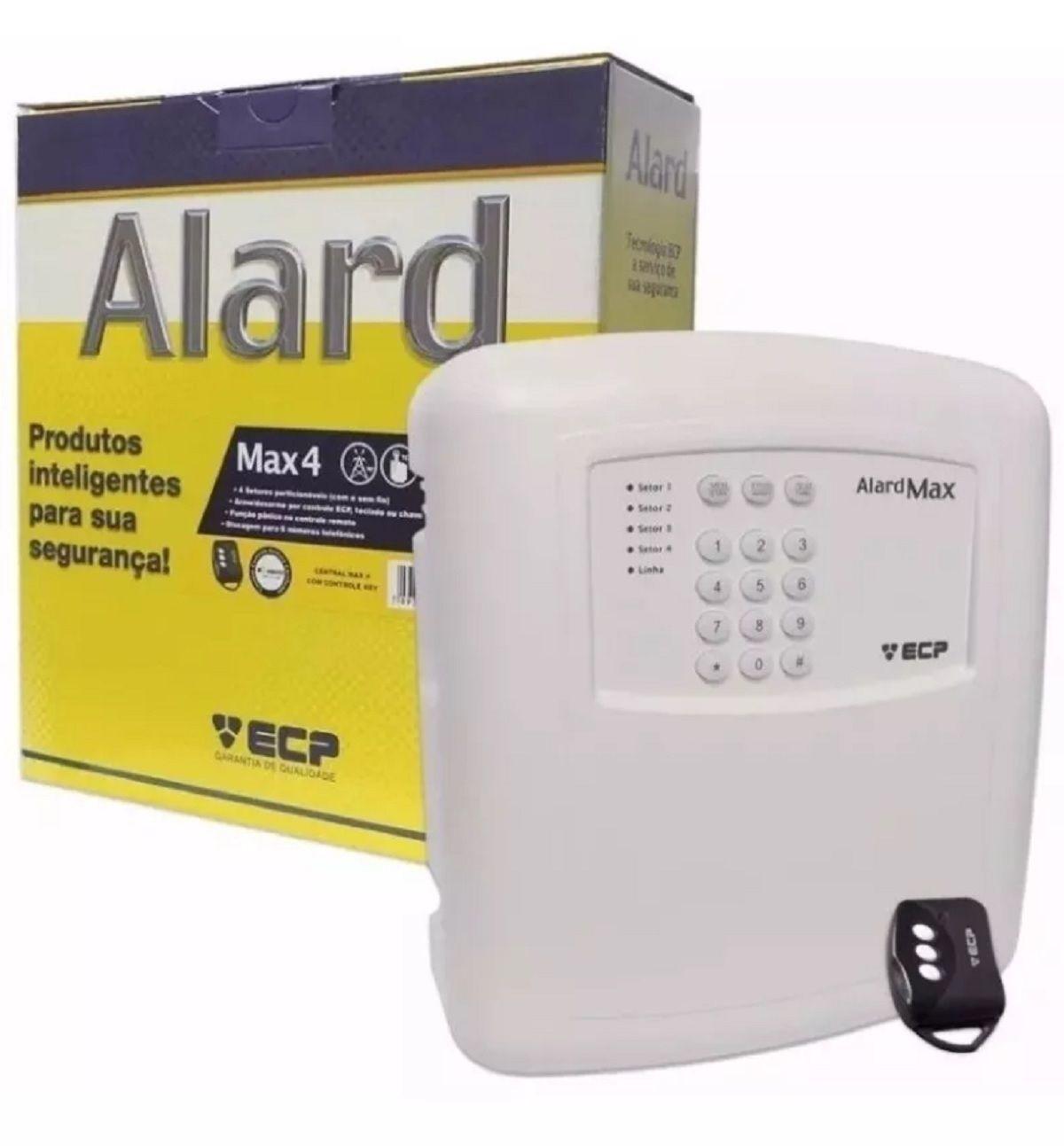 Alarme Residencial Comercial Ecp 8 Sensor Sem Fio e Bateria