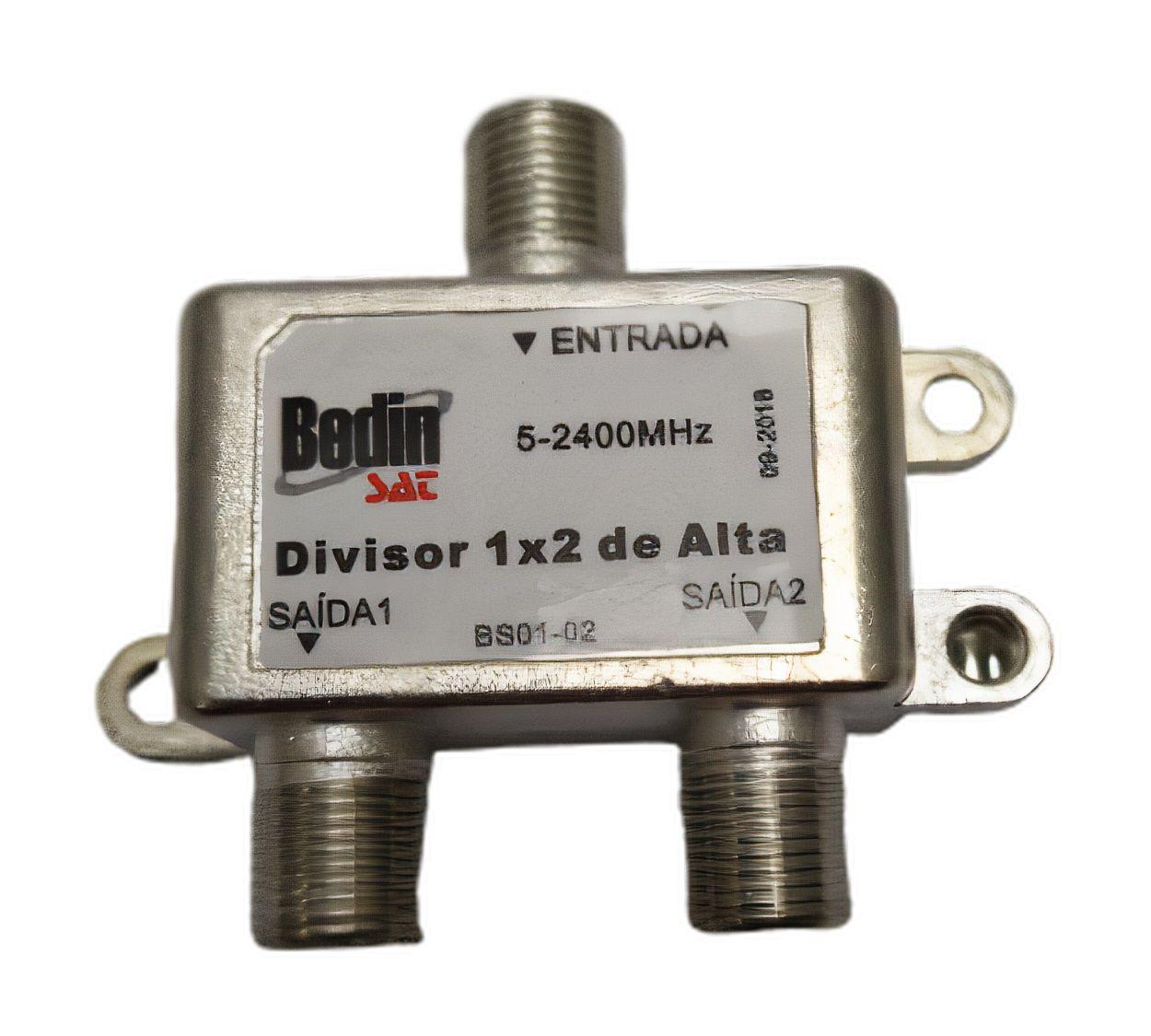Divisor 1:2 Alta , Kit Com 5 , Frequência 5-2400mhz Banda C