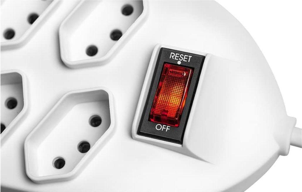 Filtro De Linha Regua Intelbras 8 Tomada Protetor Eletronico