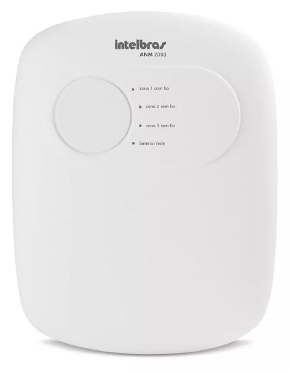 Kit Alarme Intelbras Anm 2003 e 05 Sensores Sem Fio