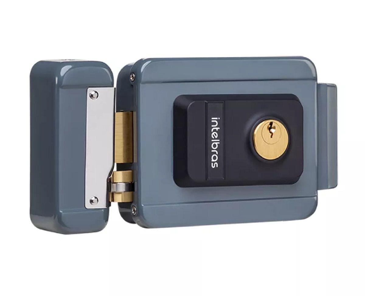 Kit Fechadura Elétrica Abertura Controle Remoto Intelbras