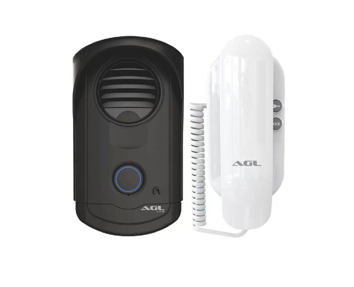 Kit Interfone Porteiro Eletronico Residencial Ecp Agl