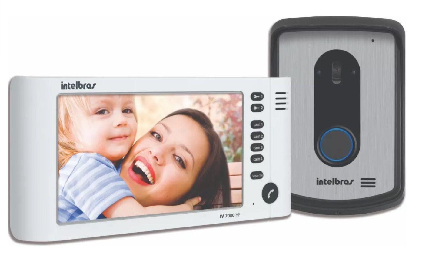 Kit Vídeo Porteiro Intelbras Iv7010 02 Cameras E Fechadura
