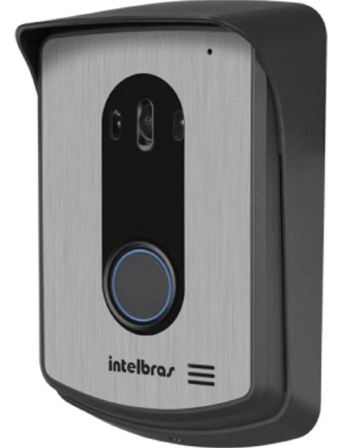 Kit Vídeo Porteiro Intelbras Iv7010 Com 2 Cameras Fechadura