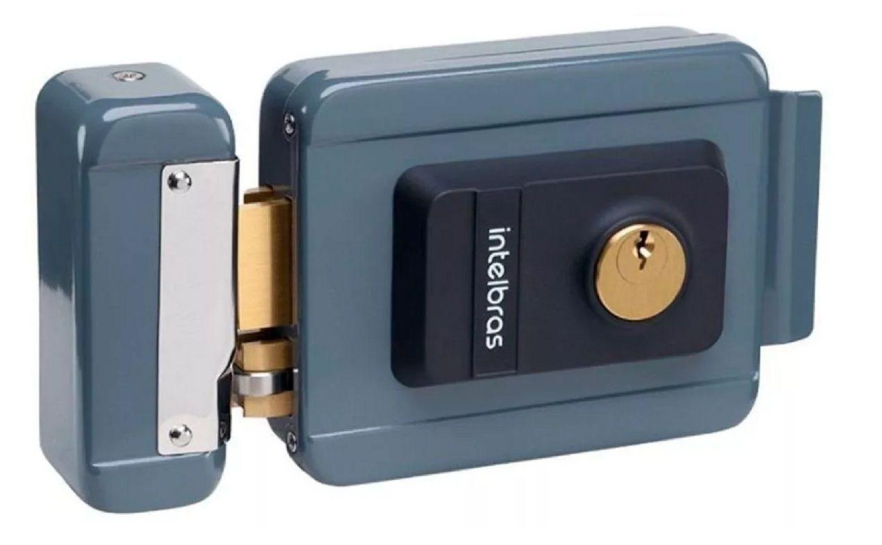 Kit Vídeo Porteiro Intelbras Iv7010 Com 3 Cameras Fechadura