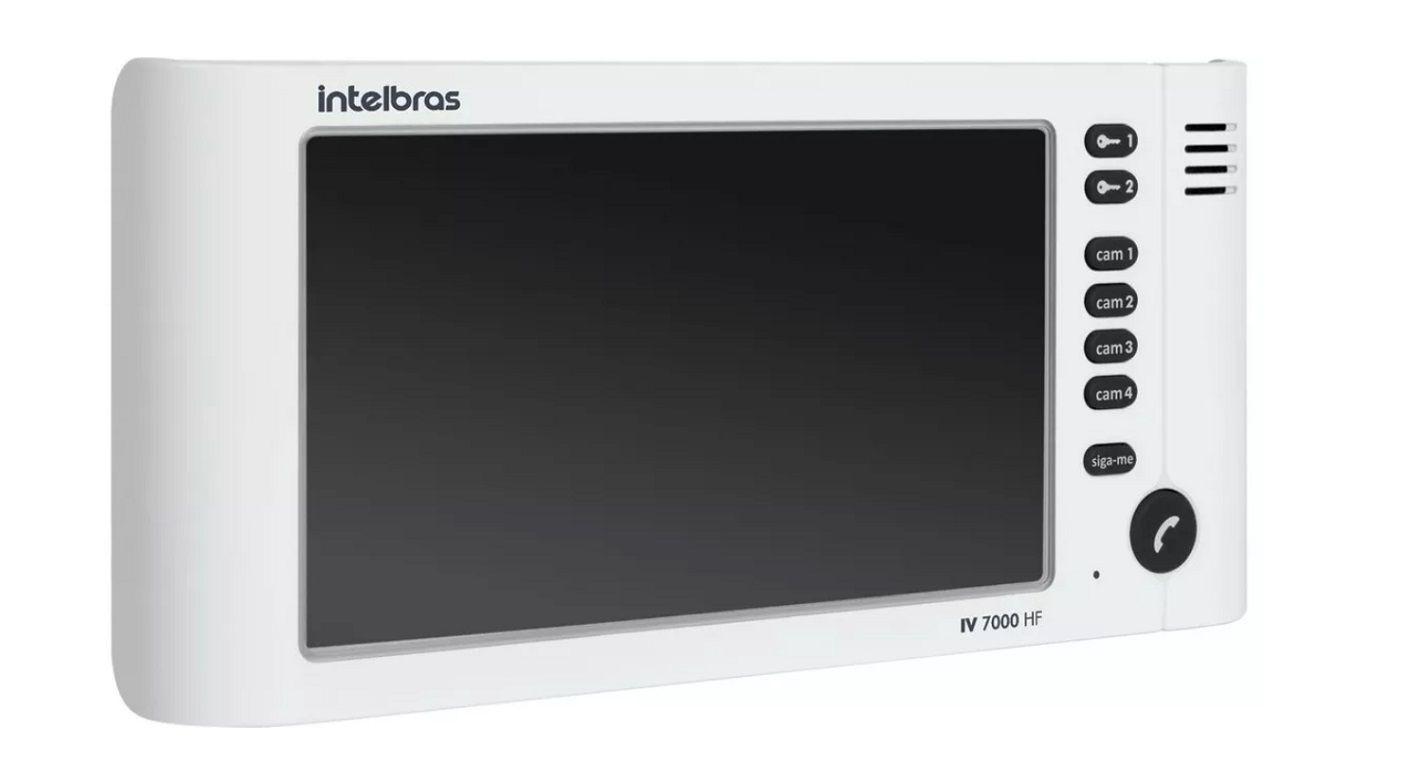 Kit Video Porteiro Iv7010 Branco Intelbras 2 Modulo Externo