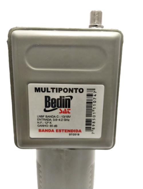 Lnbf Multiponto Banda C Parabólica Hdtv e Divisor 4 Saidas