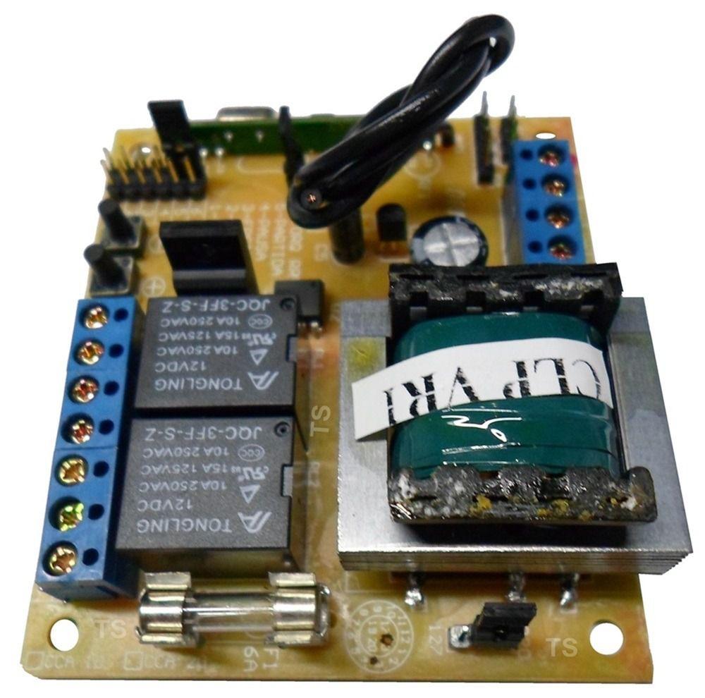 Placa Central De Motor Eletrônico Para Portão Rcg E 1 Tx Car
