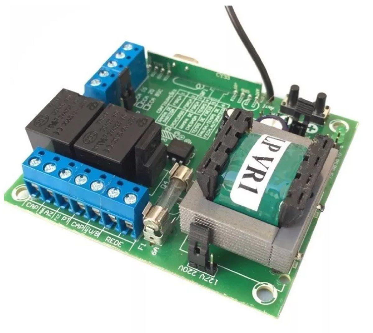 Placa Central De Motor Eletrônico Portão Rcg 4 Controles