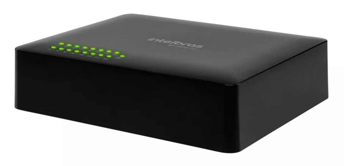 Switch 16 Portas Fast Ethernet Sf 1600 Q+ Intelbras