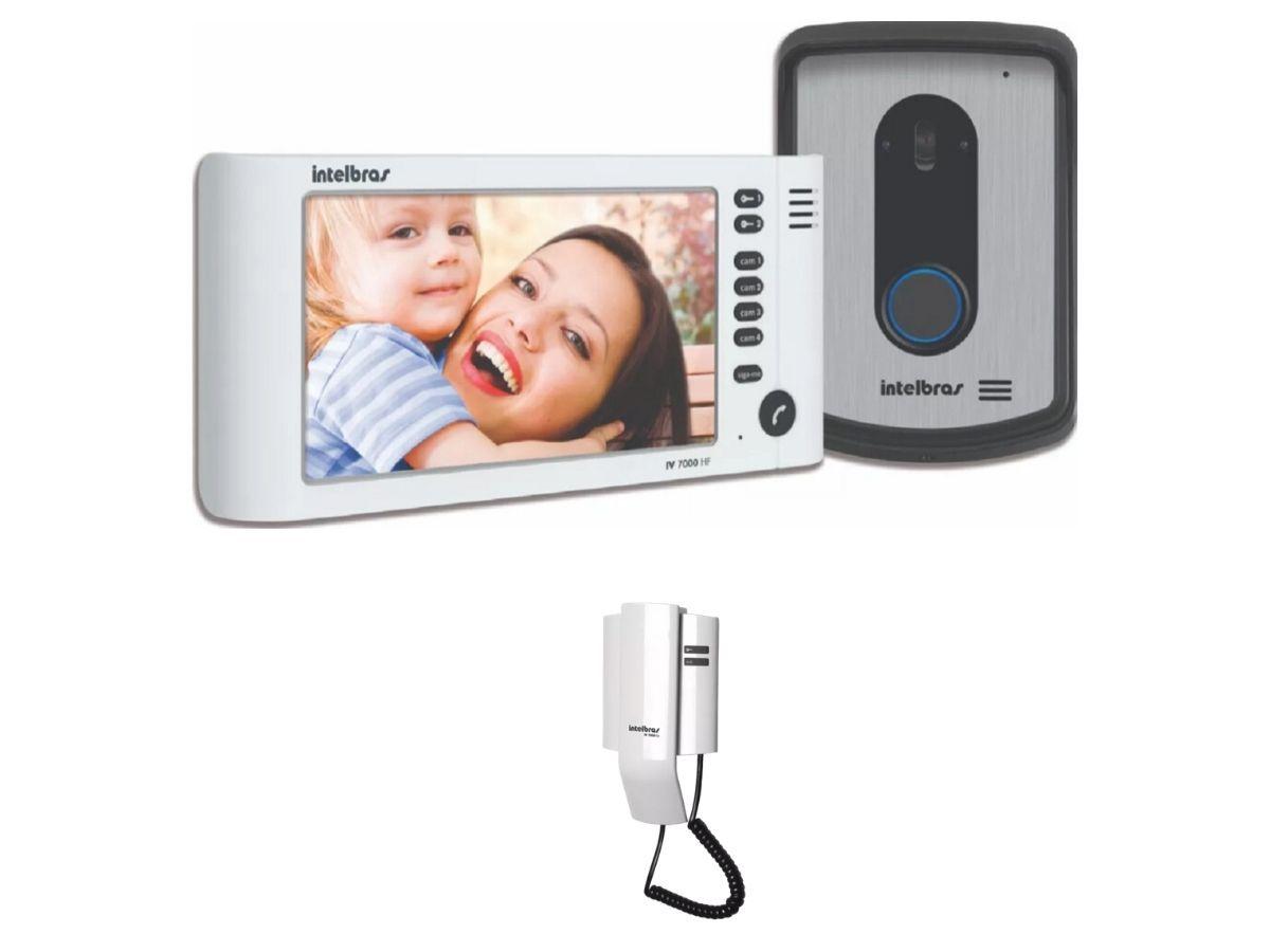 Vídeo Porteiro Intelbra Iv 7010 Lcd Com Extensão Audio