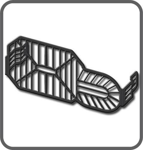 Protetor Grade Farol Adventure 800 Gs Bmw Scam Preto