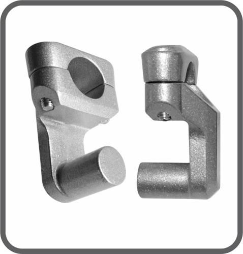 Riser Movel 28 Mm X 28 Mm Adaptador Guidao Prata Par Scam