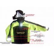 Conjunto Chuva Givi Prime Rain Suit Nylon Lançamento VERDE