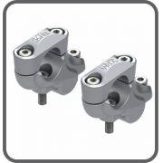 Riser Fixo V-strom 650 Adaptador Guidao Prata Scam Spta271