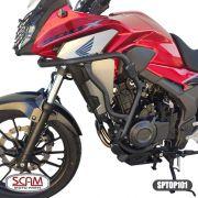 Protetor Motor Perna Carenagem Cb 500 X Scam com Pedaleira spto 101