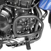 Protetor Motor Tiger 800 Aço Carbono Preto Scam Com Pedaleir