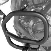 Protetor Motor Tiger 800 Aço Carbono Preto Scam COM Pedaleira