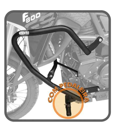 Protetor Motor Carenagem F 800 Gs Scam Com Pedaleira Sptop42