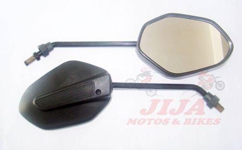 Espelho Titan Fan 160 Par Modelo Original Lente Convexa