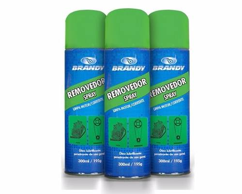 Removedor Spray Brandy Limpa Corrente Motor 300 Ml