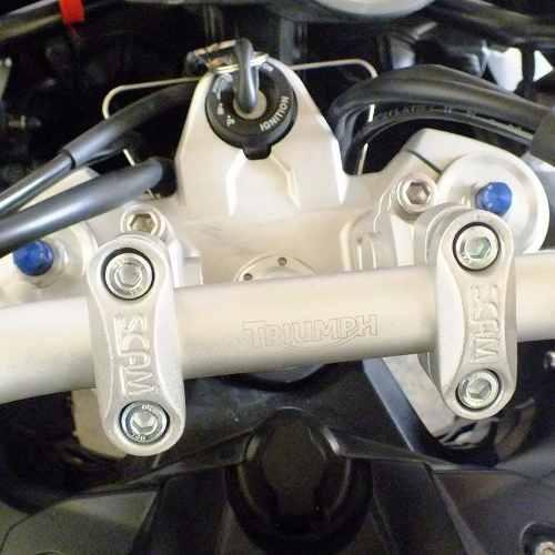 Riser Movel Super Tenere Adaptador Guidao Prata Scam Spta216