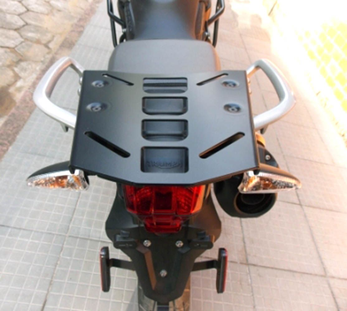 Bagageiro Chapa Rack Tiger 800 11/18  Preto Fosco Triumph 8282
