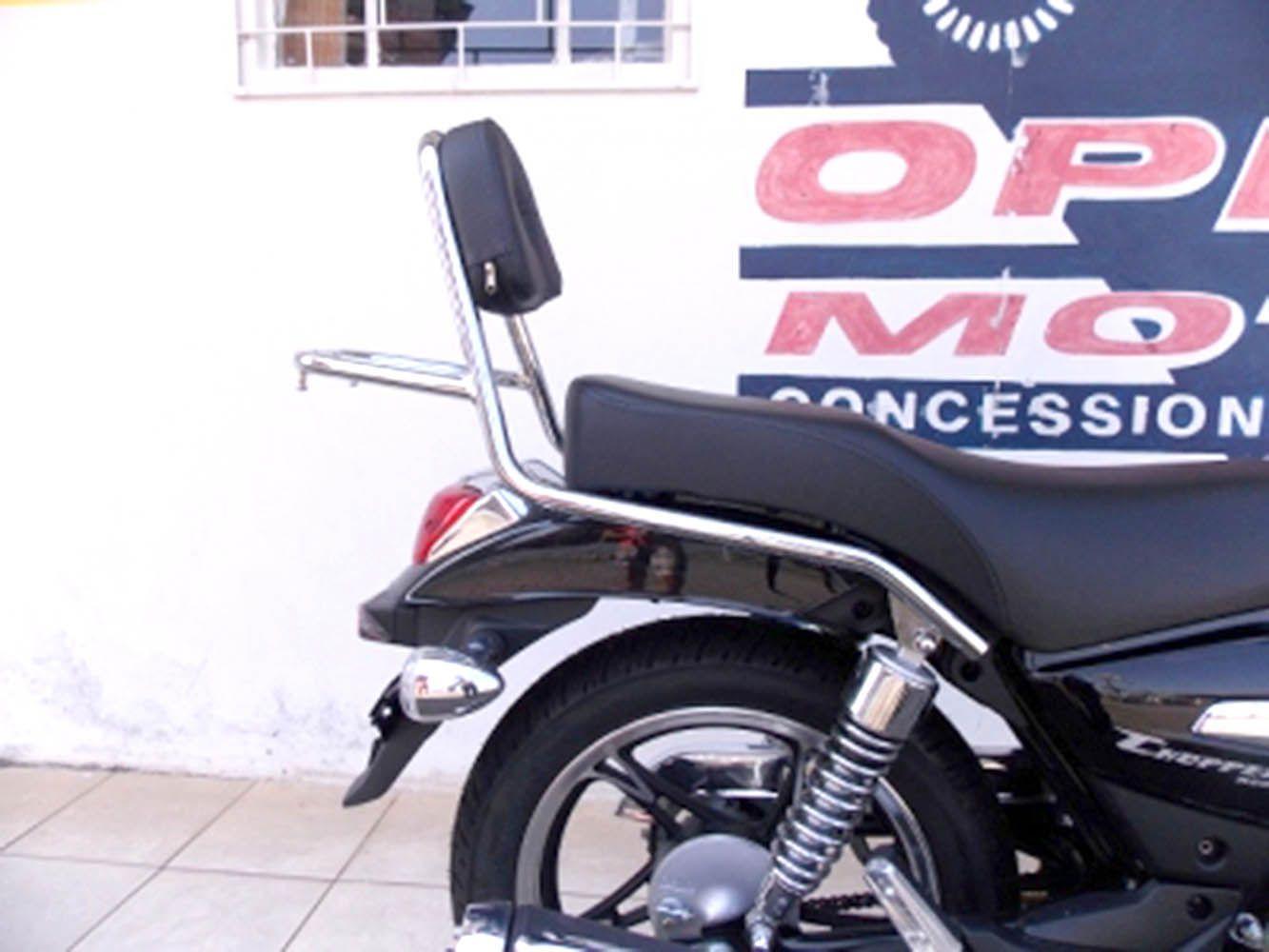 Bagageiro Com Encosto Haoujue Chopper Road 150 Cromado 10747