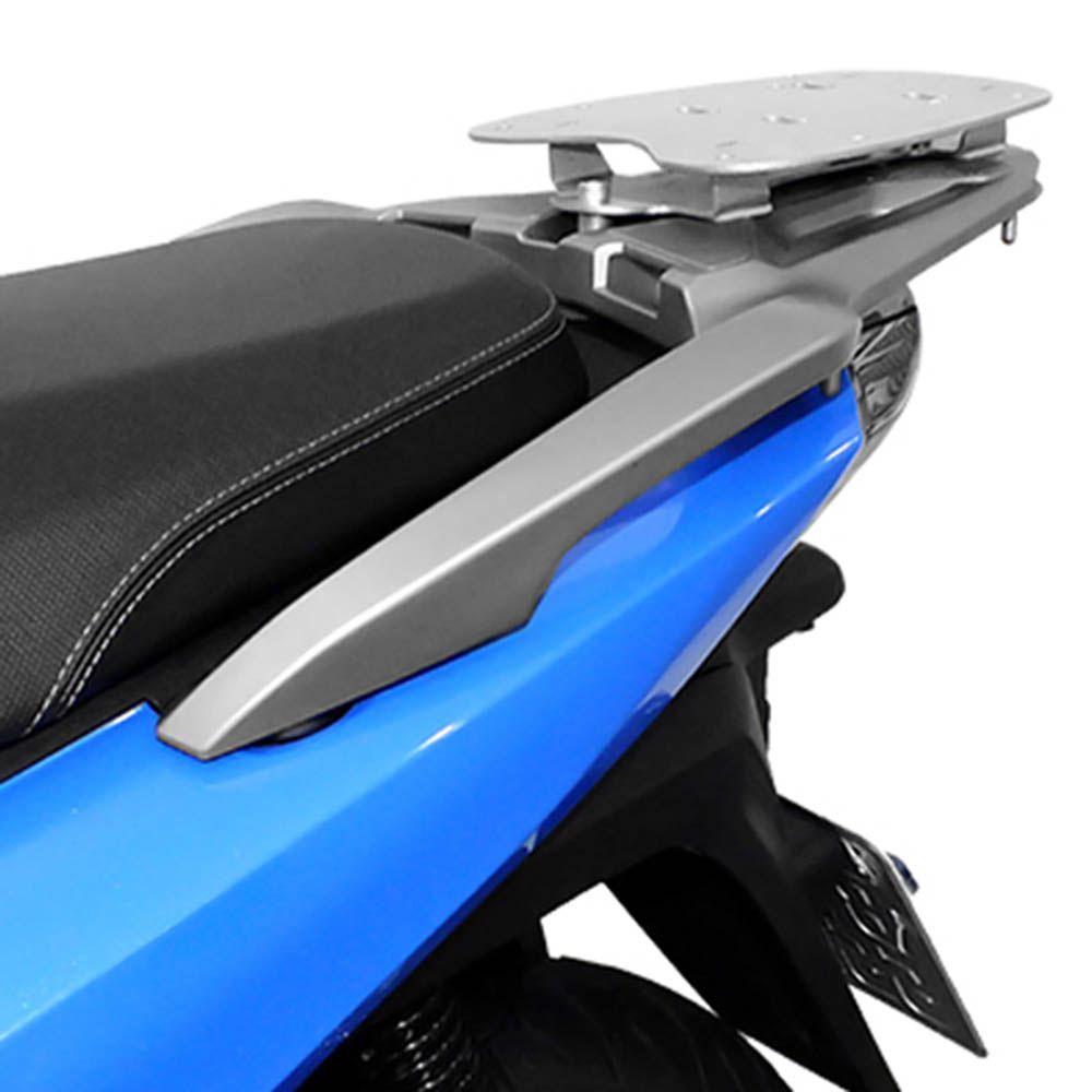 Bagageiro Rack Suporte Bau Sh 150 Honda Scam Prata