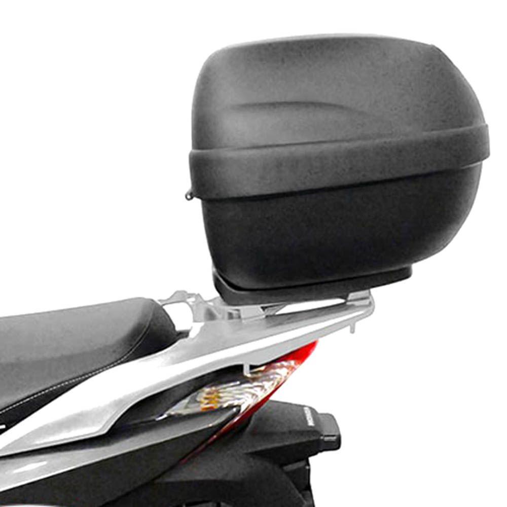 Bagageiro Rack Suporte Bau Sh 300 Honda Scam Prata